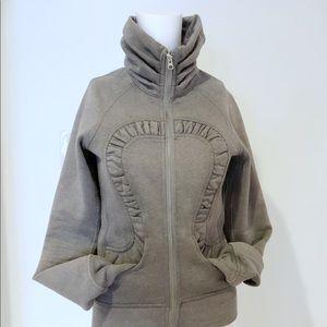 Lululemon cuddle up glitter grey size 2 sweatshirt